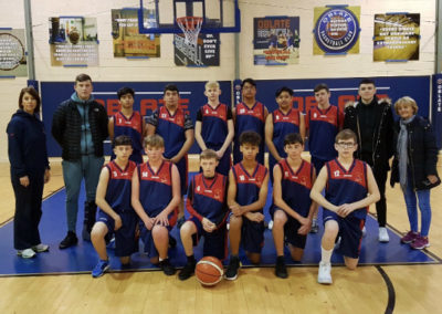 OLM boys basketball team who reached Semi finals