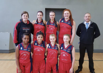 U19 girls team who reached All Ireland Finals basketball