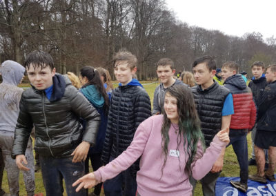 Students in the muck