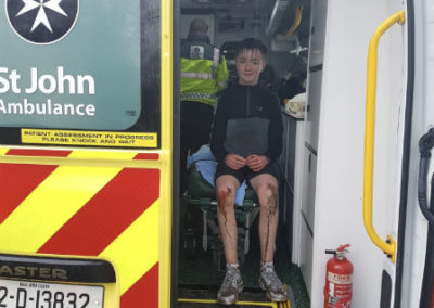 Child in ambulance